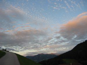 Abendstimmung am Wildschönauer Himmel