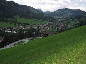 Blick auf Berghof und Niederau